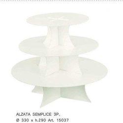 Fobuy cupcake stand acrilico basamento della torta (C)