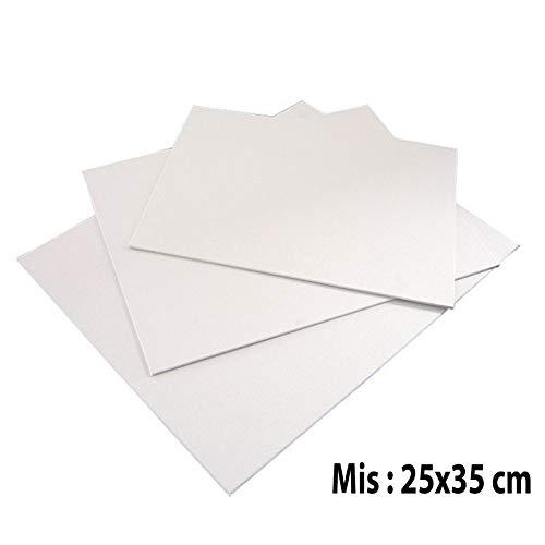 Clairefontaine 33998C Cartone Telato da Dipingere, 27 x 22 cm, 3 Fogli, Bianco