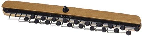 HANGERWORLD – Gruccia portacravatte in Legno e Metallo Cromato per 20 Cravatte
