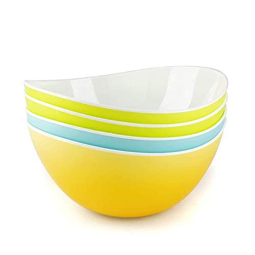 DOWAN – Ciotole da portata in porcellana, poco profonde, 2 pezzi, colore bianco