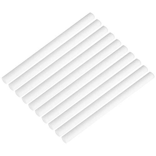 ANYIKE 10PCS umidificatori filtri spugne filtro–8mm * 120MM bastoncini di cotone tampone stoppino di ricambio può essere tagliato per USB umidificatore aromaterapia diffusore di oli essenziali 2