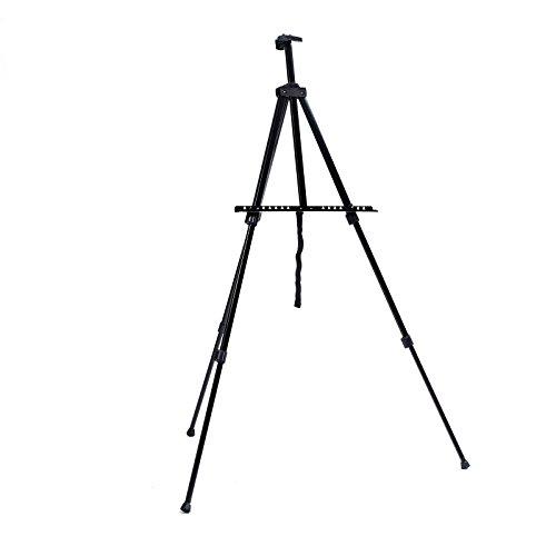 Walimex Pro, cavalletto da atelier (portata massima: circa 6kg, con ripiano per colori, pennelli, porta-straccio, borsa per il trasporto, tele) colore nero
