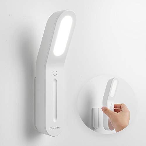 Ultnice – Luce a LED da parete con braccio flessibile a 360°, 85-265V CA, 3W, LED, adatta a leggere e come lampada da comodino con interruttore (Bianco Caldo). 2