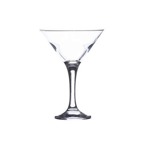 SKYFISH – Bicchiere da Cocktail Martini, in Acciaio Inox Placcato Nero, con 2 stecchini da Cocktail, Confezione da 2 (Nero)