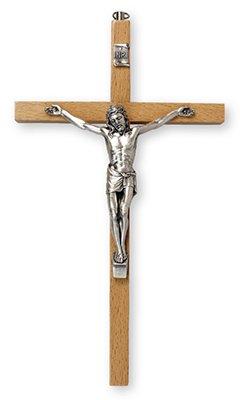 Tau in legno di ulivo, croce di San Francesco d'Assisi da parete 20 cm