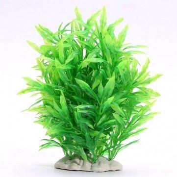 serbatoio di pesci d'acquario pianta plastica artificiale erba verde decorazione