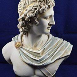 """4"""" Statua Busto Uomo In Resina Anatomia Muscolo Medico Artista Addobbi Casa Studio – Giallo"""
