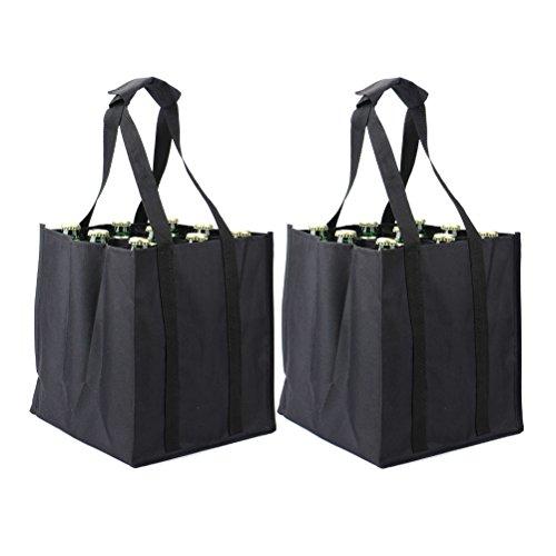 EUROFIDES® 100 Shopper Black edition Nero per Bottiglia Magnum cm.11,5+11,5×42