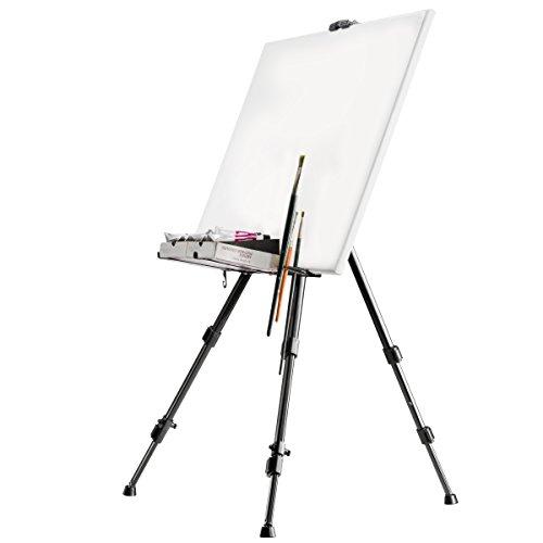 amzdeal Cavalletto Pittura 175cm, Cavalletto in Legno per artisti pittori, per la Presentazione di Telaio e Cornici, Legno di Pino