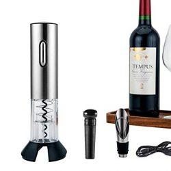 Ballylelly Pratico portatile LED Wine Opener Cavatappi automatico elettrico Bottiglia di vino Strumenti di apertura rapida sicura