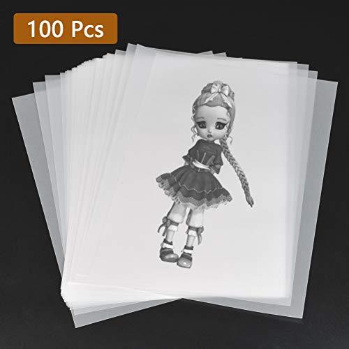 Foglio di carta trasparente A4 OfficeTree ® 100 fogli di carta trasparente A4 – 100 g/mq alta qualità bianchi – disegno, fai-da-te, biglietti di invito, menù, buoni, auguri – stampabili su ambo i lati