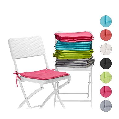 ZOLLNER 4 Cuscini da Sedia per Dentro e Fuori, 38×38 cm, Altri Colori, 053