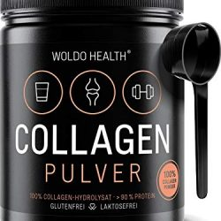 Collagene marino (800 mg) con acido ialuronico (20 mg) e vitamina C (80 mg) | Formula per capelli, pelle e unghie | Supporto per ossa e articolazioni | 90 compresse ad alta potenza | di Aceso