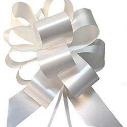 Shatchi 30 mm/3 cm grandi fiocchi da tirare per feste, confezioni regalo, alberi di Natale, matrimoni, cestini di compleanno, decorazioni per fioristi, 30 pezzi, rosso