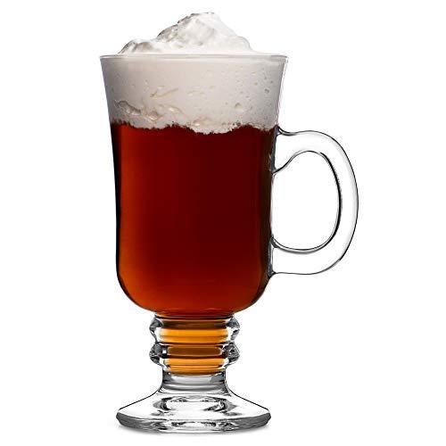 Arcoroc Caffè irlandese con maniglia e stelo 250ml, senza contrassegno di riempimento, 6 Bicchiere