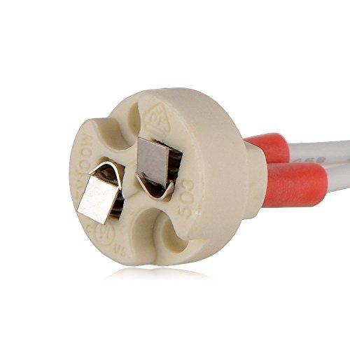 DiCUNO E27 Vintage Portalampada, Edison retro lampada a sospensione, Adattatore in ceramica solida, 4 Pezzi di ottone vintage socket