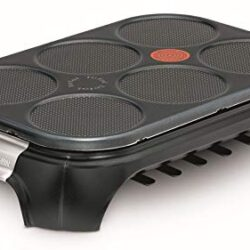 vidaXL Piastra per Crepes Elettrica con Vassoio Estraibile 40cm 3000W Macchina
