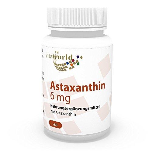 Astaxantina naturale premium – integratore alimentare antiossidante 4mg – 60 capsule con 88mg di estratto di microalga – con vitamina C, E 2