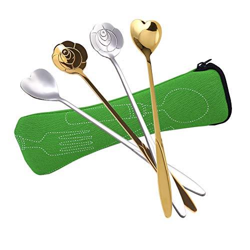 ZAK Designs 0900-680 – Set di cucchiai Lunghi per Limonata, Multicolore, 6 pz.