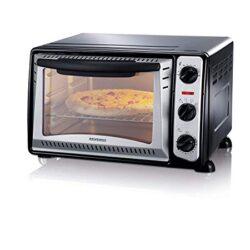 Bastilipo Pisa–Mini forno Tostapane con capacità di 9L, Griglia Auto Rimovibile, 800W, colore: bianco