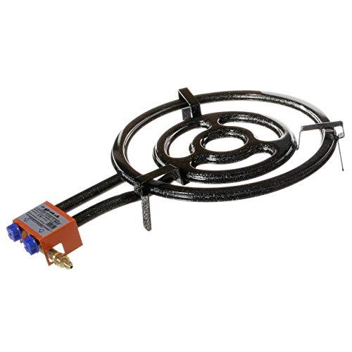 Garcima Paella doppio anello bruciatore a gas naturale, 30cm, colore: Nero, confezione da 6