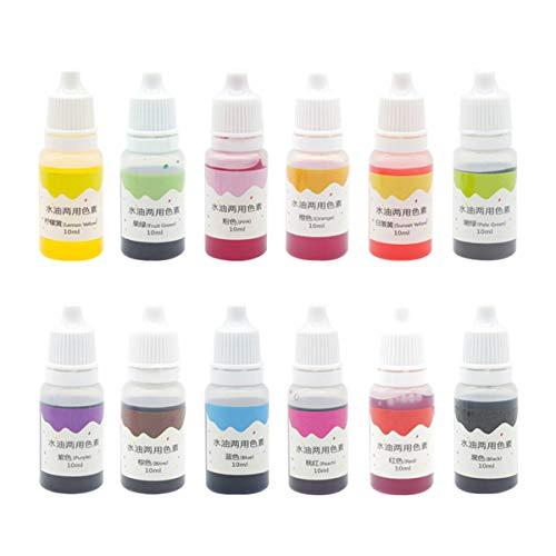 VITORY Effetto pigment polveri enorme mica insieme metallico per resina epossidica – kit soap making (12 colori 10g / 0,35 once) – forniture slime Rosa