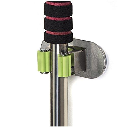 2 x Ganci da Muro OrgaTech piatti con Gommino 82 x 35 mm Porta-Attrezzi Gancio Attrezzo Gancio Multiuso
