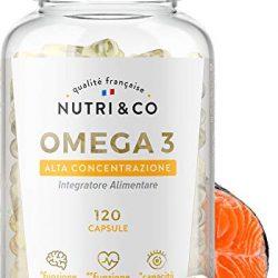 VitaDHA omega 3 liquido | Omega-3 DHA ad alto dosaggio 1450mg | Olio di pesce liquido | Distillazione molecolare | Aroma naturale di limone | 30 fiale monodose x 6.5ml