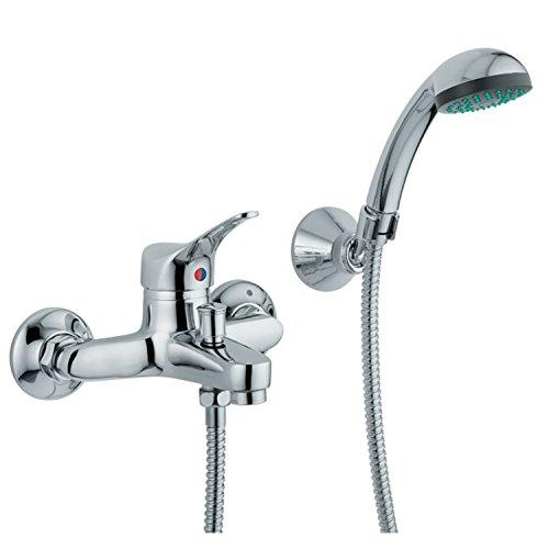 Aquatrends 199121 – Rubinetto per doccia/vasca da bagno, modello Verona, colore: Cromo