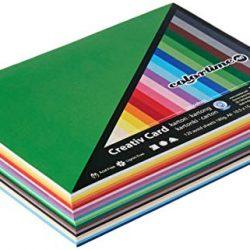 Absofine 60 fogli di Carta Kraft DIN A4 320 gr/mq Natura in cartone di alta qualità Ideale per FAI DA TE E (DIY) Marrone