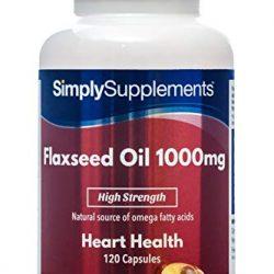 Olio di lino puro 1000mg – Naturale e pressato a freddo – Alpha acido liponico Omega 3-100 Softgel con vitamina E