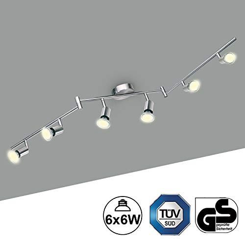 Trango 3 fiamme LED a 3 fuochi plafoniera Plafoniera Luci a soffitto Spot Spot in acciaio inox Look incl. 3x GU10 Lampadina a LED TG2005-032
