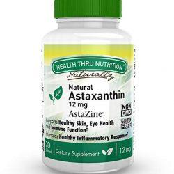 Pure & Essential Complesso di Astaxantina Naturale, di AstaPure da 42 mg, con luteina e zeaxantina, vegan, 90 capsule