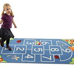 Zweigart tappeto/arazzo riproduzione 5HPI blu a quadretti a crochet, 100cm di larghezza