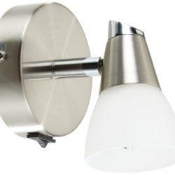Lampade LED adesive a batterie, set di 2, accensione a pressione, Luci da parete o sottopensili, LED integrati, luce fredda, batterie AAA non incluse, per armadio, vetrinetta, ripostiglio, garage