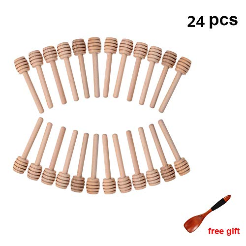 Lawei – Confezione da 100 mini bastoncini in legno per miele, 7,6 cm