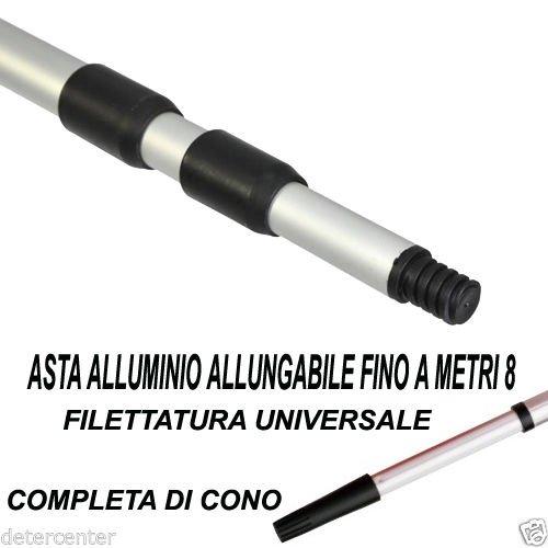 Fair Lavavetri Manuale con Manico Telescopico Tergivetro Estensibile da 55 a 92 Cm