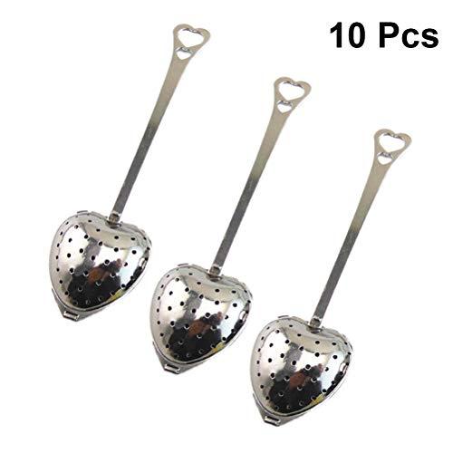 Infusore per tè con vassoio incluso set di 5, manico in silicone Sourceton IN ACCIAIO INOX filtro per tè filtro sciolto Steeper