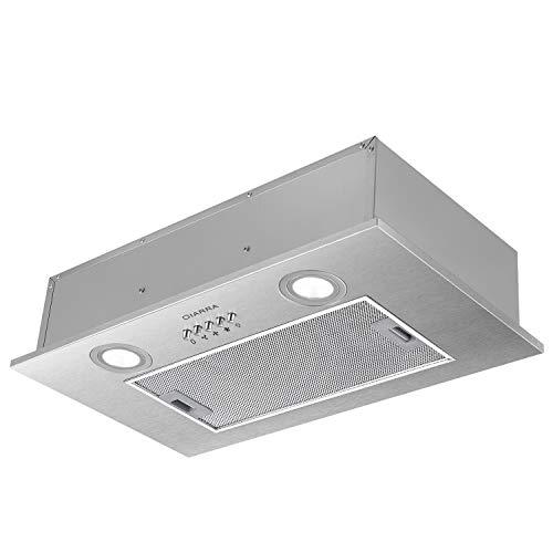 Klarstein Cappa da Cucina Aspirante TR60WS – in Acciaio per Montaggio a Parete, 60 cm, Aspirazione Massima 310m³/h, Lampada per Illuminazione Inclusa