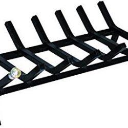 Amagabeli Portalegna Per Camino 36 x 32 x 31.5cm Cesto Porta-legna da Camino Legno Cestino con Manici Portalegna per Legna da ardere Porta Legna in Metallo per Interni ed Esterni Portalegna battuto