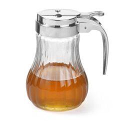 Uxradg Portable Honey dispenser, acrilico plastica Bee HIVE Honey Syrup Drip Bottle pot Jar spremere contenitore coppa pot Holder Kitchen Honey Juice dispenser strumento di cottura Craft
