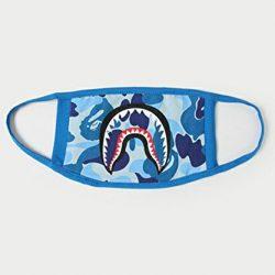 5Five Moda A Bathing Ape Bape Shark Black Face Mask Camouflage Mouth-muffle Bape Covers 2