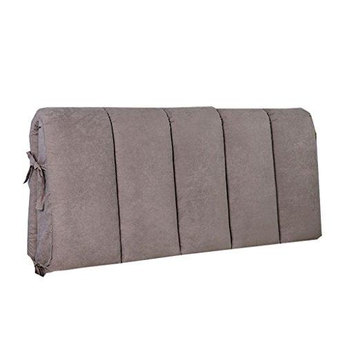 VERCART – Cuscino da lettura, base triangolare, con supporto cilindrico, regolabile, per divano letto, sostegno per schiena e collo, in lino, sfoderabile, Lino, Grigio/Verde, 45x45x20cm