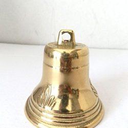 Campanaccio con manico–2-pack campanaccio Noismakers, forte Call campane per Cheers, giochi di sport, matrimoni, fattoria, bianco, 7,6x 23,2x 5,1cm