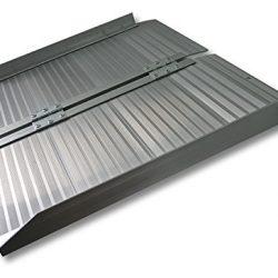 Wiltec Rampa di carico telescopica Antiscivolo Alluminio Fino a 270kg 213,5 cm con Bordo 2