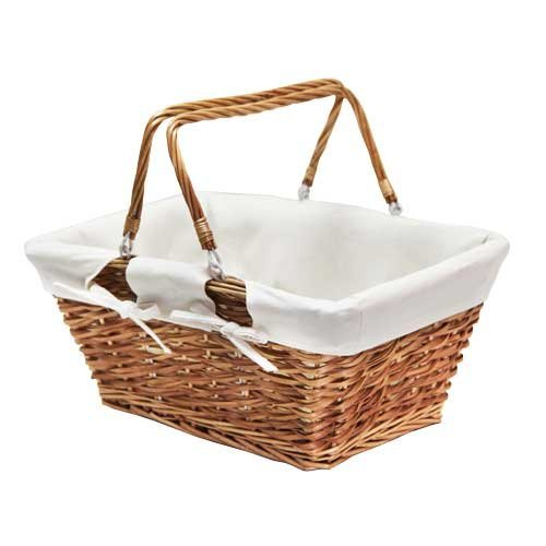 Picnic basket with plaid outdoor food storage basket picnic storage basket