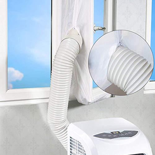 Hon&Guan Isolamento termico e acustico – ø100MM Tubo flessibile di ventilazione Condotti di aerazione in alluminio PVC per mobile climatizzatore , aspiratore aria – lungo 2,5M (ø100mm*2,5m)