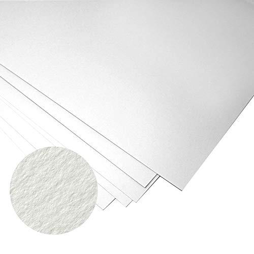 Creative World Of Crafts Ltd – Risma di Carta, 120 g/mq, Formato A3, Adatta a Diversi Usi, Colore Bianco