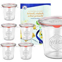 Set di 75 barattoli per marmellata da 212 ml + Coperchio Twist-off da 63 mm Colore Bianco per Conserve, Miele, Confetture e Gelatina