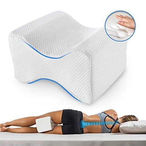 BEST DIRECT Leg Pillow Medical Device – Morbido Cuscino Memory Foam per Gambe Aiuto Posizione Corretta per Dormire Contro Mal di Schiena e Problemi Posturali